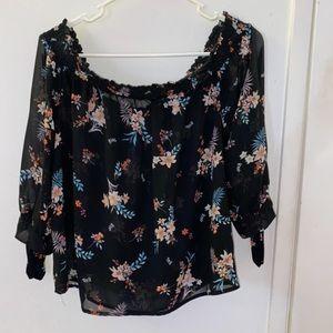 Floral off the shoulder blouse